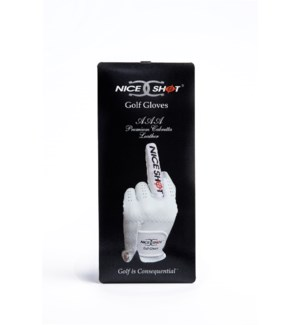 NICE SHOT GOLF GLOVE THE BIRD WHI LRH/L (6)